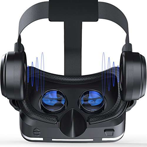 VR SHINECON 6.0 VR headset version virtual reality glasses Stereo headphones 3D glasses headset helmets Support 4.7-6.0 inch large screen smartphone (With controller SC-RA8) by VR SHINECON (Image #3)