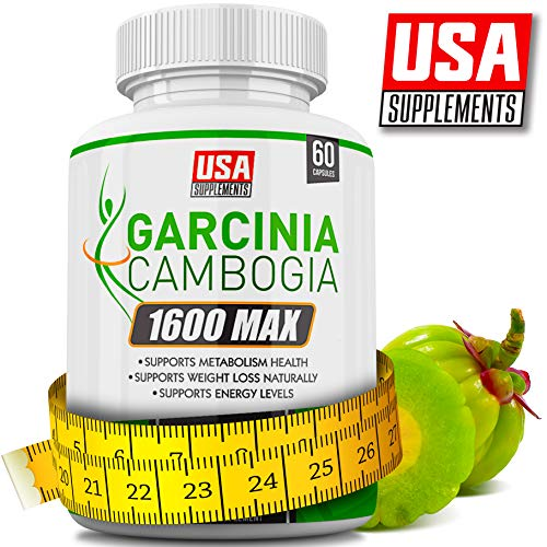 Garcinia Cambogia Weight Loss Capsules (100% Money Back Guarantee) 1600mg Extra Strength | Diet Pills That Work Fast for Women & Men | Appetite Suppressant, Carb Blocker, Hunger Suppression (Safe Diet Pills That Work For Women)