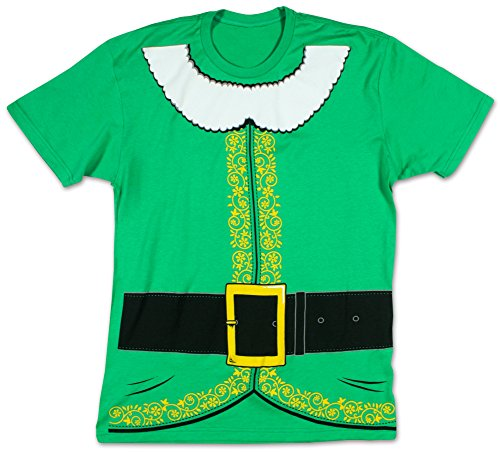 [Impact Originals - Mens Elf Big Print Subway T-Shirt in Kelly Green, Size: Small, Color: Kelly] (Fun Couple Costume Ideas)