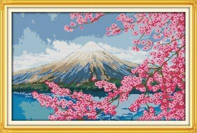 Joy Sunday Cross Stitch kits, Mount Fuji,11CT Printed, 75cm×51 or 29.25