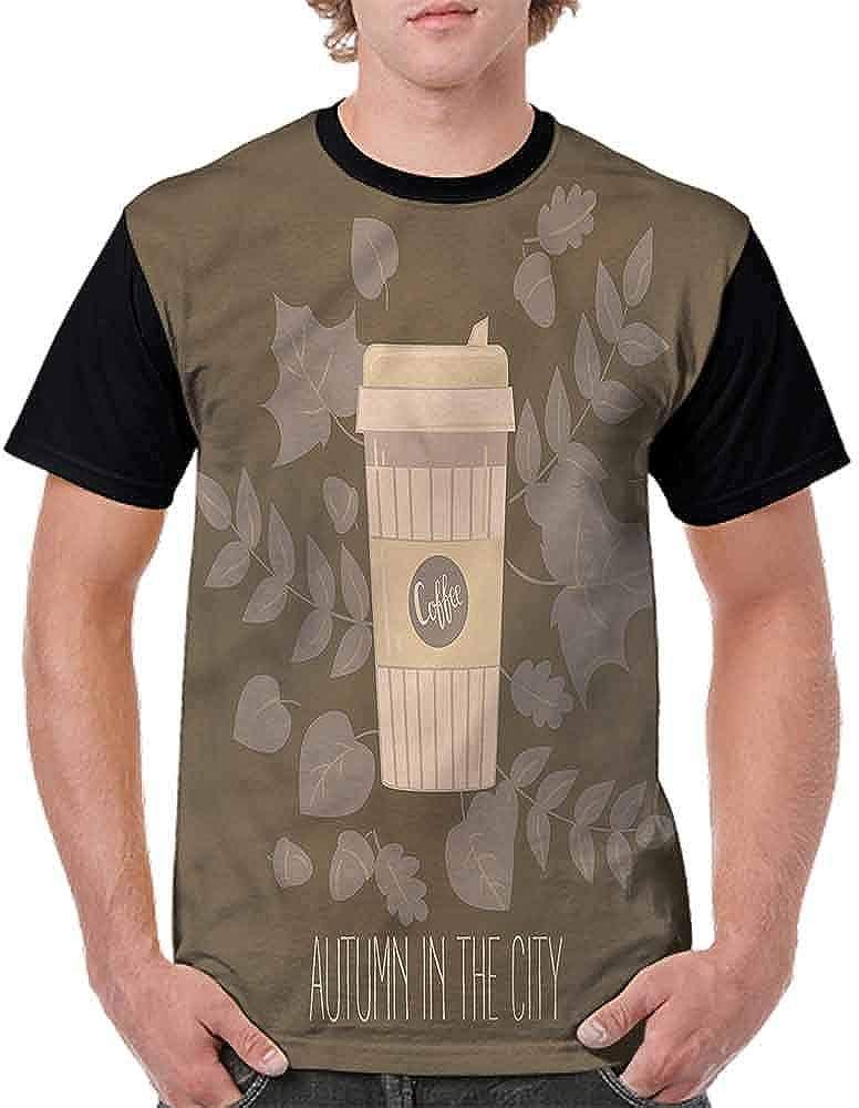 Teen t-Shirt,Hot Beverage Ground Beans Fashion Personality Customization