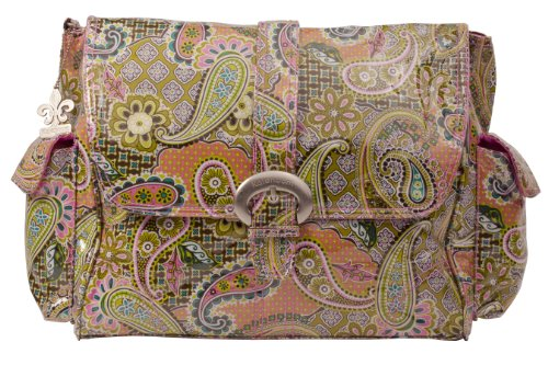 Kalencom Laminated Buckle Bag, Florentine Paisley Pink