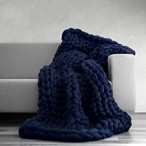 50x60in Arm Knitted Chunky Blanket,Chunky Knit Blanket,Merino Wool,Wool Throw,Chunky Blanket,Giant Knit Blanket,Knitted Blanket by Popular Knit Chunky Blanket