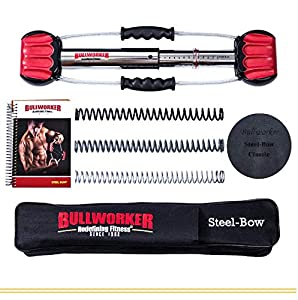 "Bullworker 20"" Steel Bow - Full Body Workout - Portable Home Gym Isometric Exercise Equipment for Fast Strength Training Gains. Cross Training Fitness; Chest, Back, Arms, and Abs Exercise Machine"