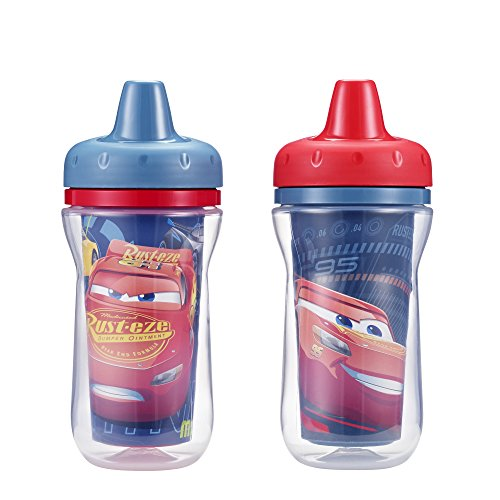 (The First Years 2 Pack 9 Ounce Insulated Sippy Cup, Cars/Pattern May Vary (Color and design may vary))