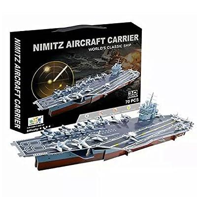 Formula? 3D Educational Puzzle Nimitz Aircraft Carrier Model Kit Jigsaw Games