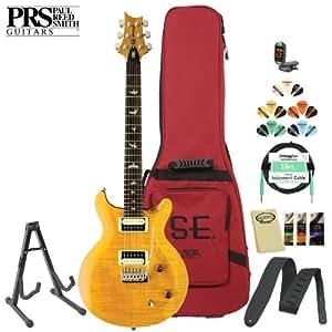 paul reed smith se santana electric guitar kit santana yellow includes tuner. Black Bedroom Furniture Sets. Home Design Ideas