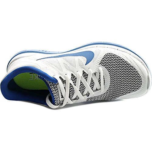 Zapatillas Nike Free 4.0 V4 Para Hombre Modelo 642197 140 Blanco / Azul Militar / Negro