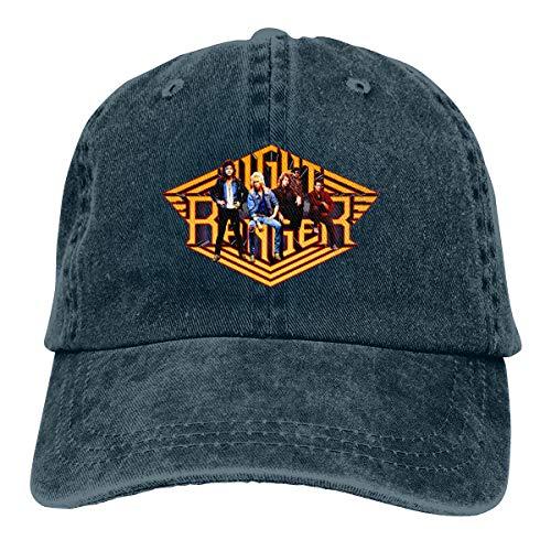 - Night Ranger Cap Plain Cotton Adjustable Washed Twill Low Profile Baseball Cap Hat Unisex Navy