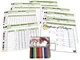 FabStore Puppy Whelping Collars Set with Color-Coded Record Keeping Charts for Breeders