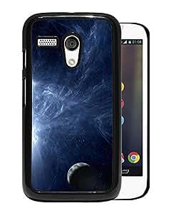 Unique DIY Designed Cover Case For Motorola Moto G With Blue Cosmos Fantasy Mobile Wallpaper Phone Case