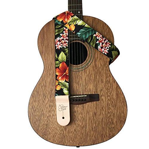 sherrins-threads-hawaiian-and-conversational-guitar-straps-bird-of-paradise-2-inch-nylon-guitar-stra