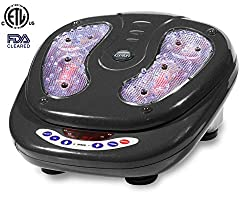 iComfort Vibration Foot Massager with Infrared Heat, Includes Wireless Remote Control