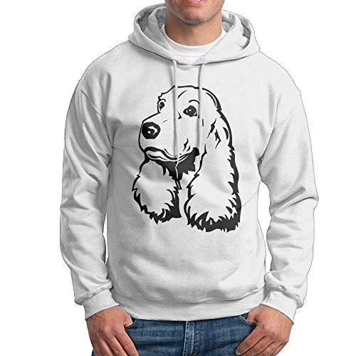 YLJIA Hooded Sweatshirt Men Punk Pullover Fleece Hoodie Cocker Spaniel ()
