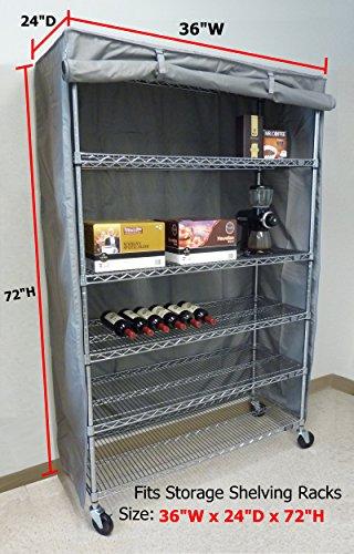 Storage Shelving unit cover, fits racks 36