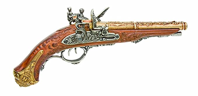 Denix The Double Barrel Pistol Of Napoleon, Brass - Non-Firing Replica