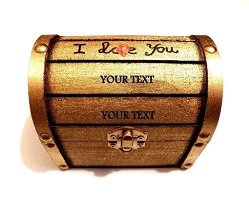 Custom Wooden Chest, Trunk Box, Memory Box, Treasure Chest, Keepsake Box, Wood Chest, Custom Wooden Jewelry, Jeweler Box, Custom Chest (Treasure Chest Card Box)