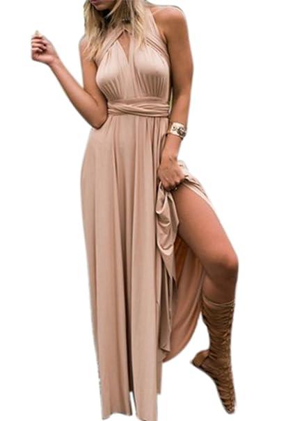 Huateng Método de la mujer del vestido del vendaje cruzado de la cuerda multi Vestido de