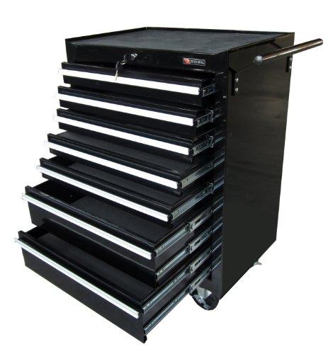 Excel TB2080BBSB-Black 26-Inch Steel Roller Cabinet, Black