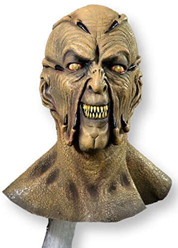 Jeeper Creeper Costume (Trick or Treat Studios Jeepers Creeper Movie Quality Face Mask Beige)