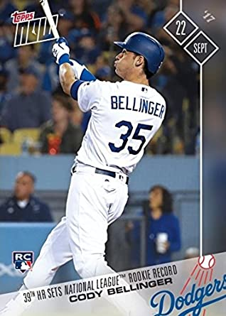 2017 Topps Now Baseball 642 Cody Bellinger Rookie Card 39th Home Run Breaks National Rookie Record Only 2298 Made