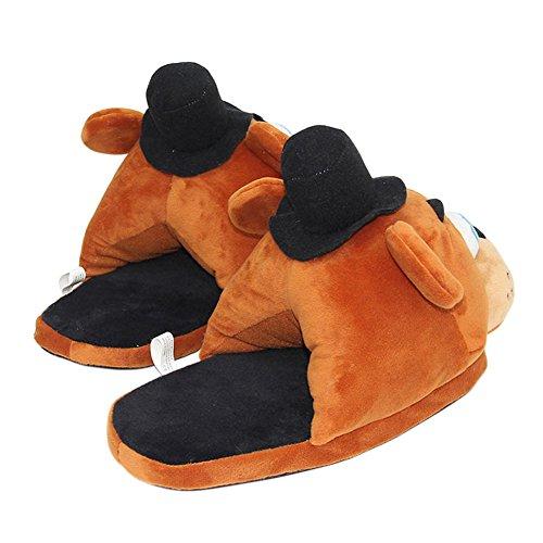 Animal Indoor Men Slippers Closed Kid Big Tortor Toe Plush Adult Women House Slip 1Bacha Bear On q7gWxpz