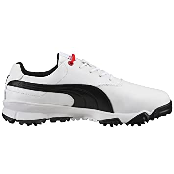 Puma Ace Golf Shoes Mens - 188659-01 White/Black/High Risk Red