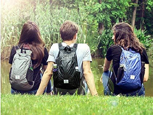 Sunuo Outdoor Folding Waterproof Portable Packable Pocket Bag Travel Walking Lightweight Backpack Sports Bag Shoulder Bag Daypack 18L (Black)