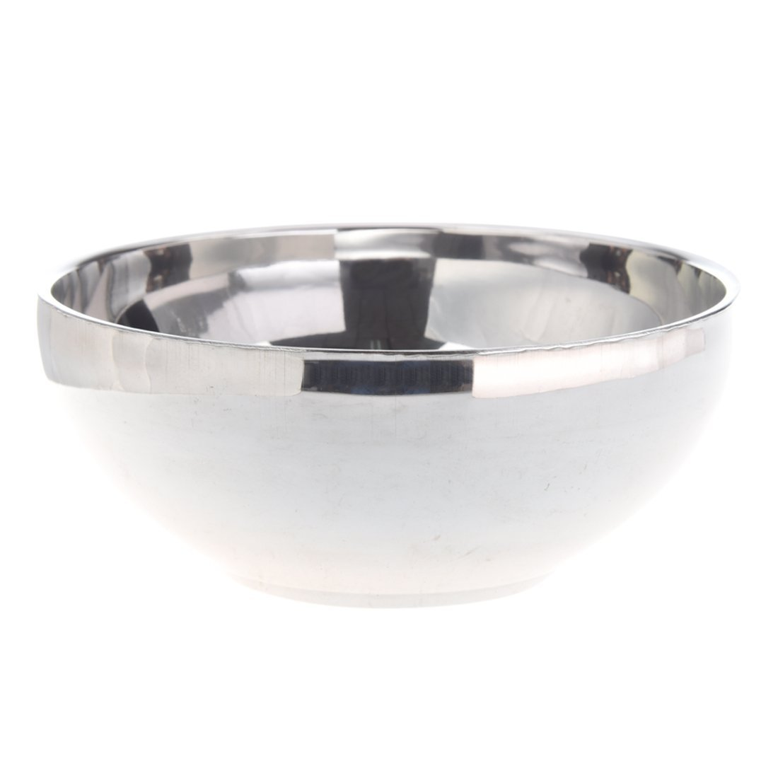SODIAL(R) Family Tableware 4.6 Dia Round Shaped Silver Tone Stainless Steel Rice Bowl LEPAZIK4558