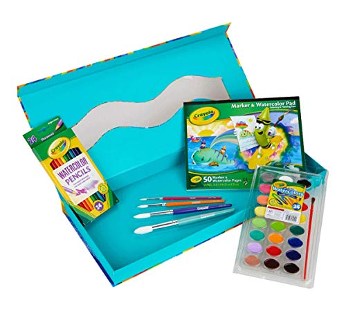 Crayola All-in-One Watercolor Set, Travel Paint Set for Kids & Adults, Over 50Pcs Watercolors