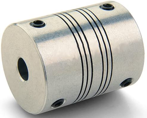 Four Beam 7075 Aluminum Beam Shaft Coupling 1.2500 in OD 1.5000 in Length