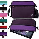 Tablet Sleeve Messenger Bag with Shoulder Strap Neoprene Protective Cover Case (Bodacious Purple)