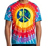 Yoga Clothing For You Mens Blue Earth Tie Dye Tee