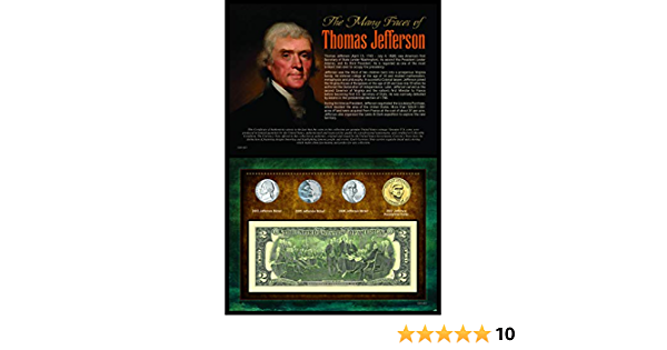 American Coin Treasures Kids A Salute to Americas Presidents Thomas Jefferson Coins /& Stamps