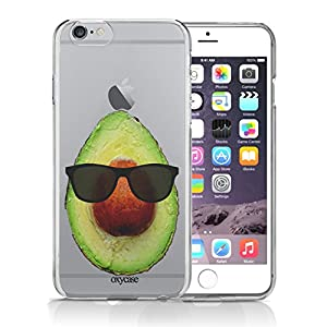 iPhone 6 6S Case Avocado Hipster Cool Sunglass Guacamole Guac Funny Transparent Unique Design Pattern Cover For iPhone 6S also fits iPhone 6 By Oxycase