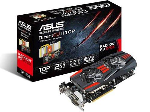 ASUS R9270X-DC2T-2GD5 Graphics Cards R9270X-DC2T-2GD5 (Directcu Top)
