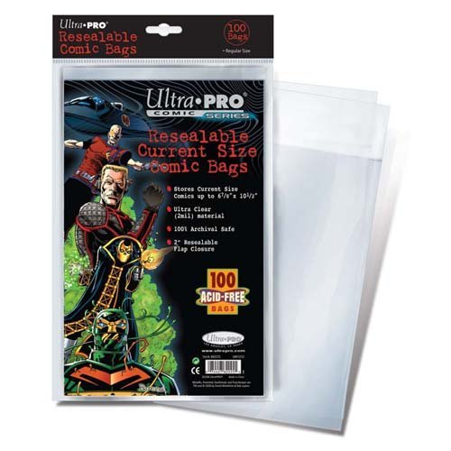 Ultra Pro Comic Bags (Ultra Pro Resealable Current Size Comic Bags (Pack of 100))