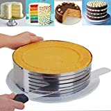 Layer Cake Slicing. Adjustable Cake Ring 9.8-12.2 inches. 1 Cake Ring Mold, Cake Layer Pans Cake, Cake Ring Cutter, Mousse Cake Ring, Layer Cake Slicer, Cake Decorating Supplies. 100% GUARANTEED!