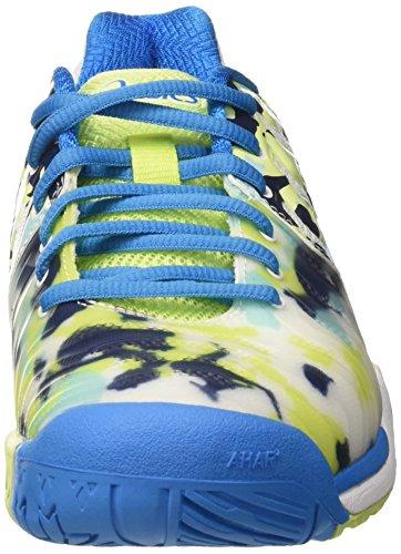 Asics Gel-Resolution 7 L.e.Melbourne, Zapatillas de Deporte para Mujer Blanco (White/diva Blue/pistachio)