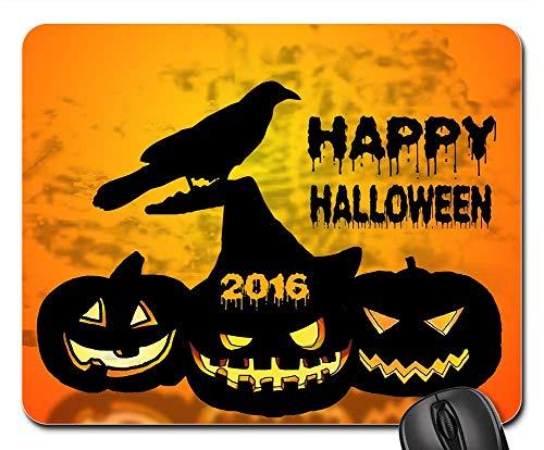 Mouse Pads - Halloween Pumpkin Raven Graphics Design