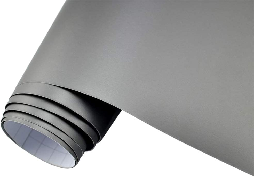 Neoxxim 4 60 M2 Premium Auto Folie Silber Matt Metallic Dunkel Silber Matt Metallic 50 X 150 Cm Blasenfrei Mit Luftkanälen Ca 0 15mm Dick Folierung Folieren Bekleben Küche Haushalt