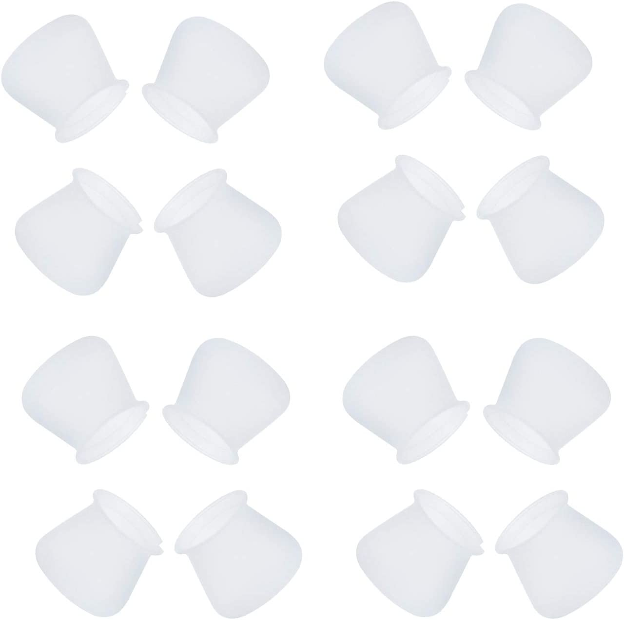 36 Pcs Furniture Silicon Protection Cover Chair Leg Caps Table Feet Cover Floor Protector Fit for round & square legs No Scratch No Noise Anti-slip Waterproof (Matte White)