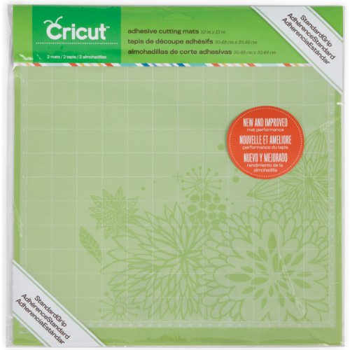 Cricut 2001974 Adhesive Cutting Mat, Standard Grip, 12 x 12-Inch, Pack of 2