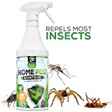 Organic Home Pest Control Repellent Spray - 10x STRONGER - Kills & Repels, Ants, Roaches, Spiders, and Other Pests Guaranteed - Insect Killer - Child & Pet Safe - Indoor/Outdoor Spray, 16oz