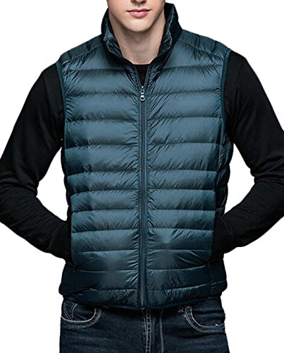 Giacca Giù Moda Inverno Noi 3xl Caldo Eku Packable Verde Gilet Maschile Puffer Bwf4wX