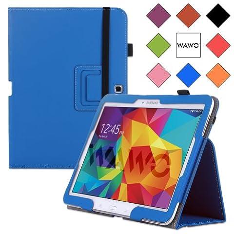 WAWO Samsung Galaxy Tab 4 10.1 Inch Tablet Smart Cover Creative Folio Case (Blue) (Tablet Samsung Tab4 10)