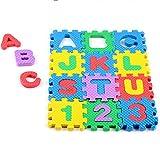 Creative Alphabet Numbers Foam EVA Puzzle Mat Toys for Toddlers Kids,Soft Mini EVA Puzzle Playmat Non-Toxic Interlocking Foor Children & Babies Boys Girls Room -36pcs