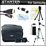 Starter Accessories Kit For The Samsung WB750, EX2, EX2F Digital Camera Includes Deluxe Carrying Case + 50 Tripod With Case + Micro HDMI Cable + USB 2.0 Card Reader + LCD Screen Protectors + Mini TableTop Tripod + MicroFiber Cleaning Cloth