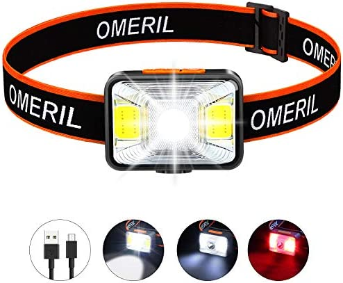 OMERIL Rechargeable Headlamp Flashlight Waterproof product image