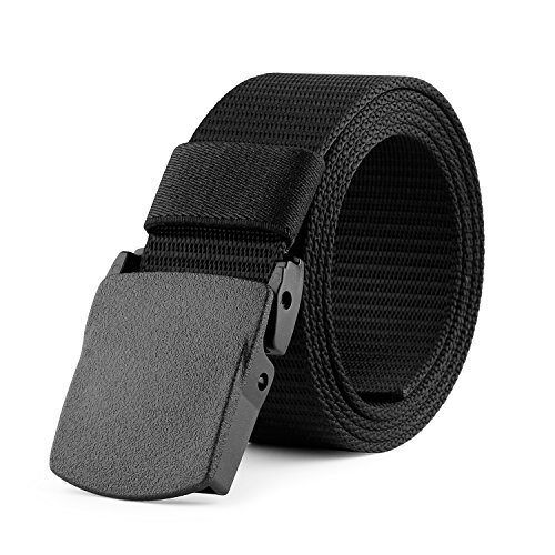 - JASGOOD Nylon Canvas Breathable Military Tactical Men Waist Belt With Plastic Buckle